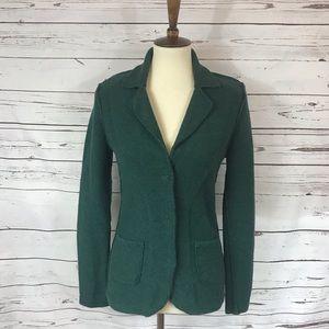 CAbi Forrest Green Knit Blazer